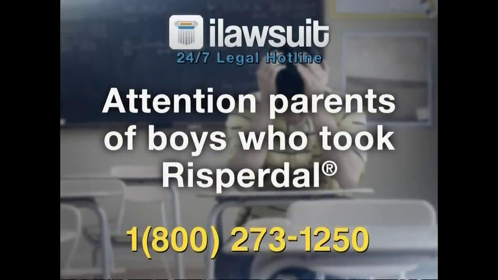 iLawsuit Legal Hotline TV Spot, 'Risperdal' - Screenshot 2