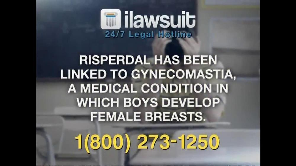 iLawsuit Legal Hotline TV Spot, 'Risperdal' - Screenshot 5