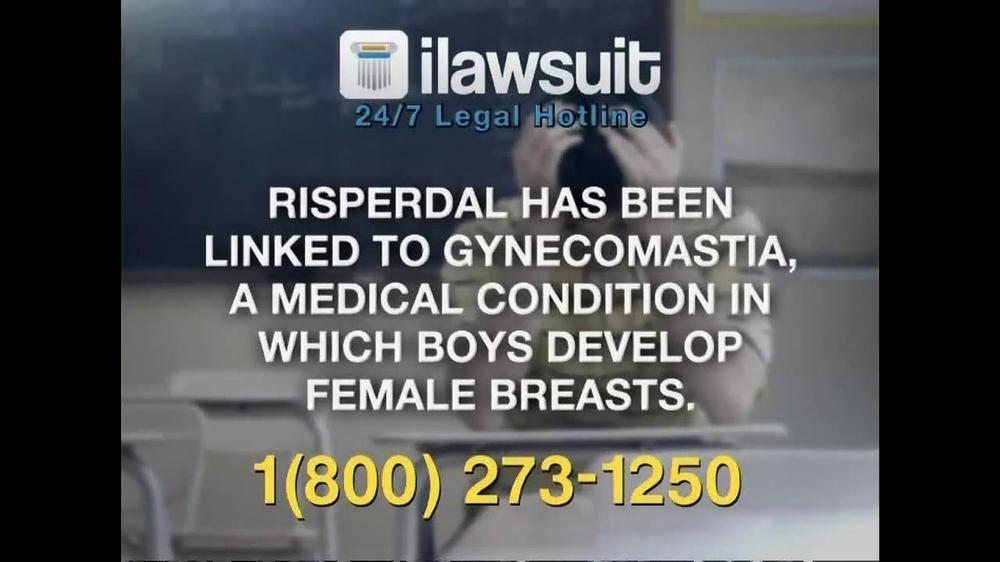 iLawsuit Legal Hotline TV Spot, 'Risperdal' - Screenshot 6