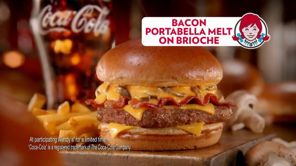 Wendy's Bacon Portabella Melt on Brioche TV Spot, 'Melt with You' - Screenshot 8