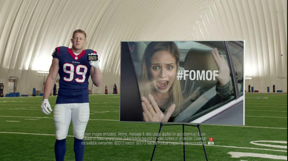 Verizon NFL Mobile TV Spot, '#FOMOF: Road Trip' Feat. JJ Watt - Screenshot 9