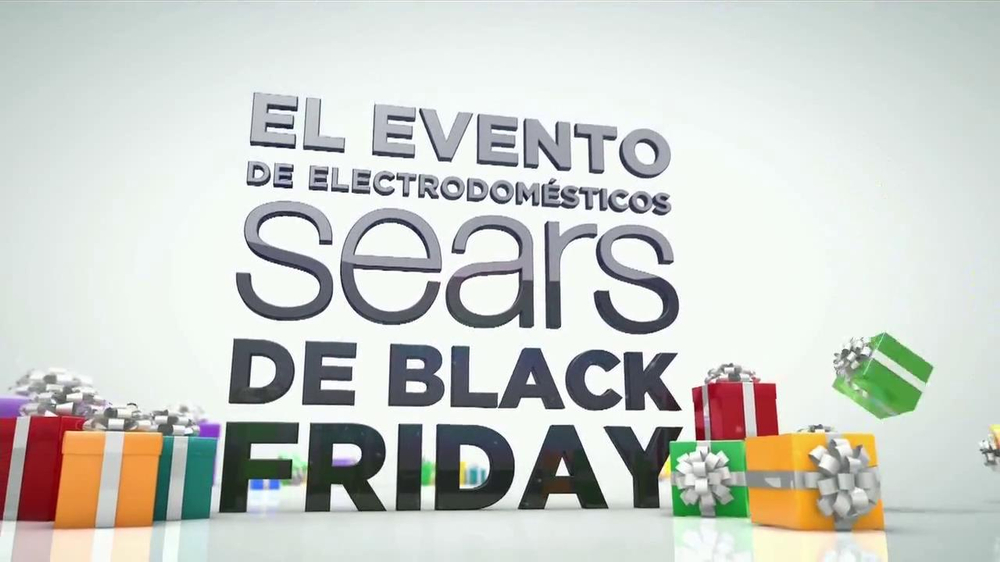El Evento de Electrodomésticos Sears de Black Friday TV Spot [Spanish] - Screenshot 1