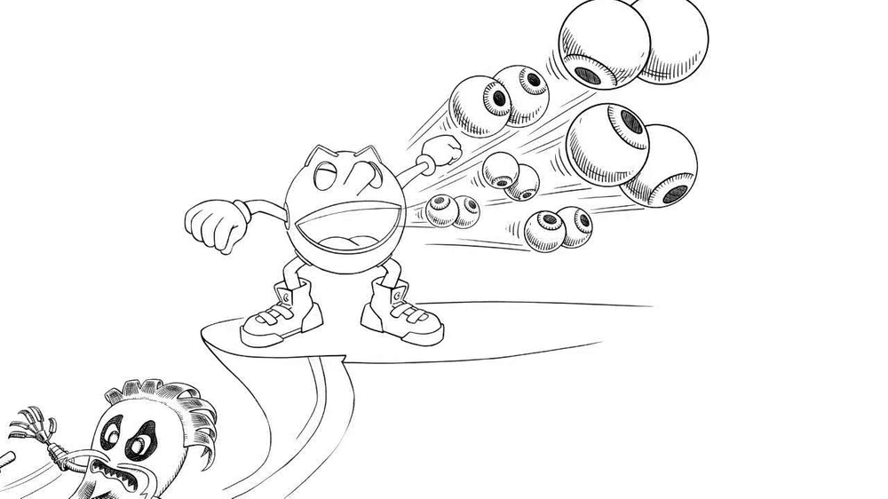 Fabulous Pac Man Maze Coloring Pages With Pac Man Coloring Pages: Ms Pac Man Coloring Pages