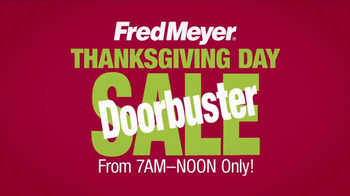 Fred Meyer Thanksgiving Day Sale TV Spot