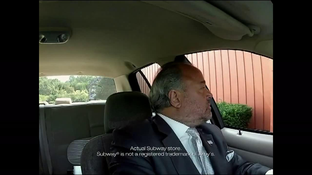 Arby's TV Spot, 'Drive-Thru' Featuring Bo Dietl - Screenshot 1