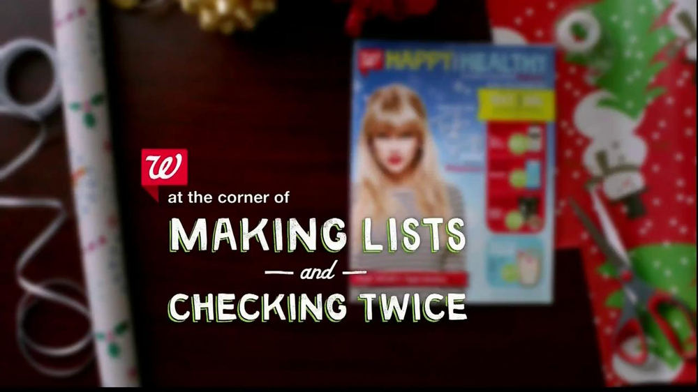 Walgreens Happy and Healthy Magazine TV Spot, 'Taylor Swift' - Screenshot 1