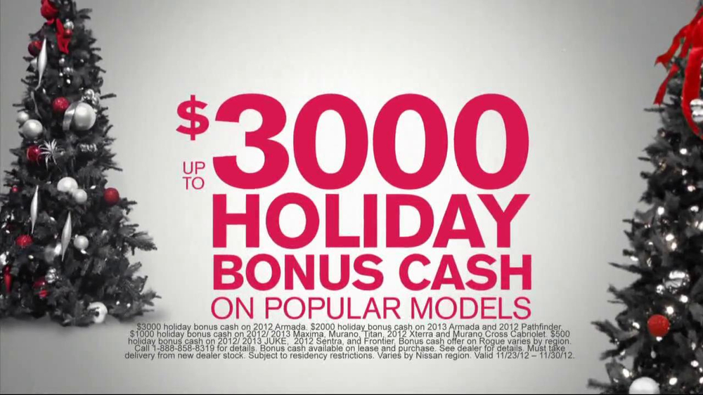 Nissan Season to Save TV Spot, 'Holiday Bonus Cash' - Screenshot 4