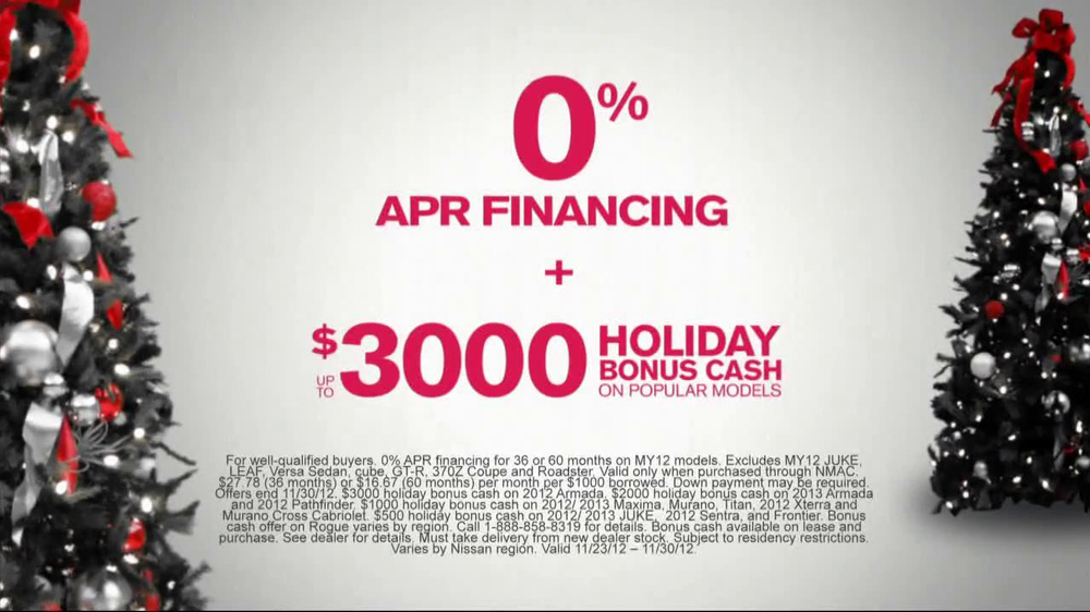 Nissan Season to Save TV Spot, 'Holiday Bonus Cash' - Screenshot 5