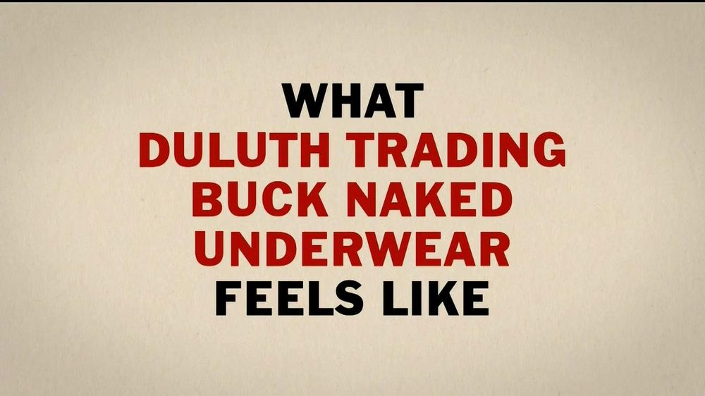 Duluth Trading TV Spot, 'Buck Naked Underwear' - Screenshot 3