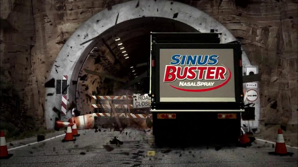 Sinus Buster Nasal Spray TV Spot, 'Tunnel' - Screenshot 3