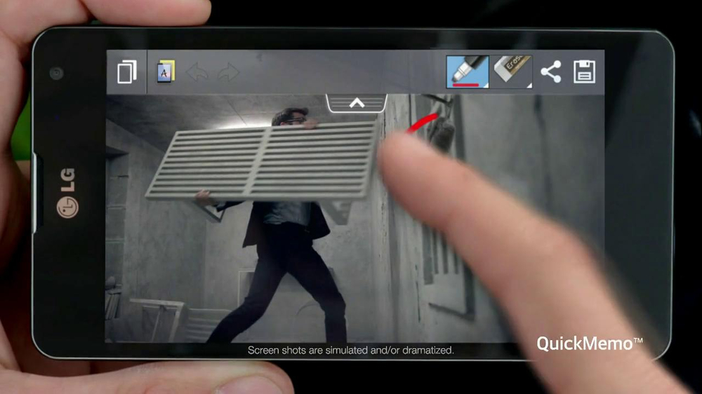 LG Optimus G TV Spot, 'Commercial Shoot' - Screenshot 5