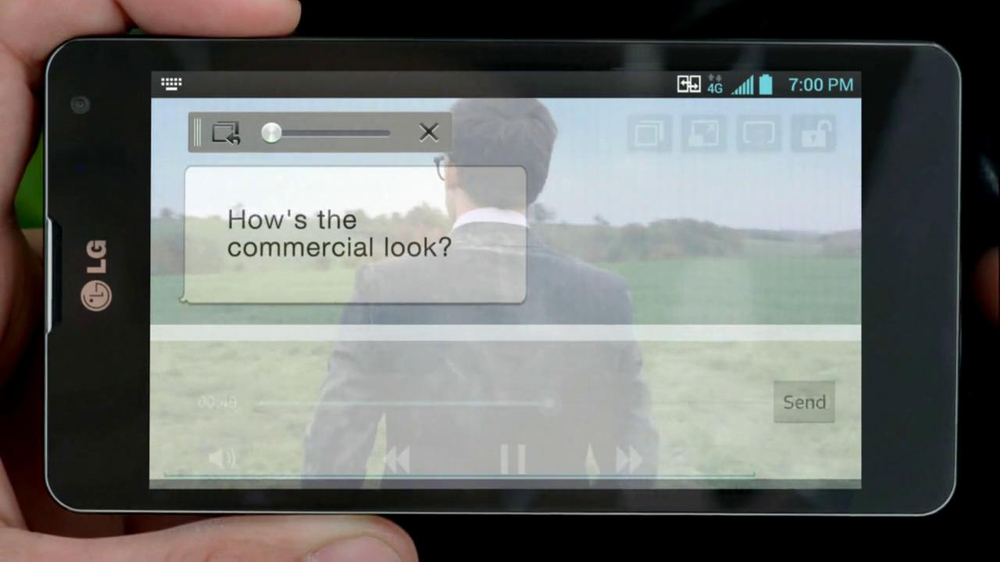 LG Optimus G TV Spot, 'Commercial Shoot' - Screenshot 8