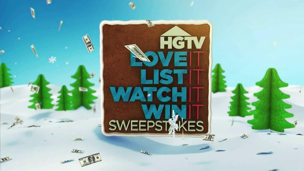 HGTV Love It, List It, Watch It, Win It Sweepstakes TV Spot, 'Snow' - Screenshot 1