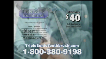 Triple Sonic Toothbrush TV Spot - Thumbnail 8