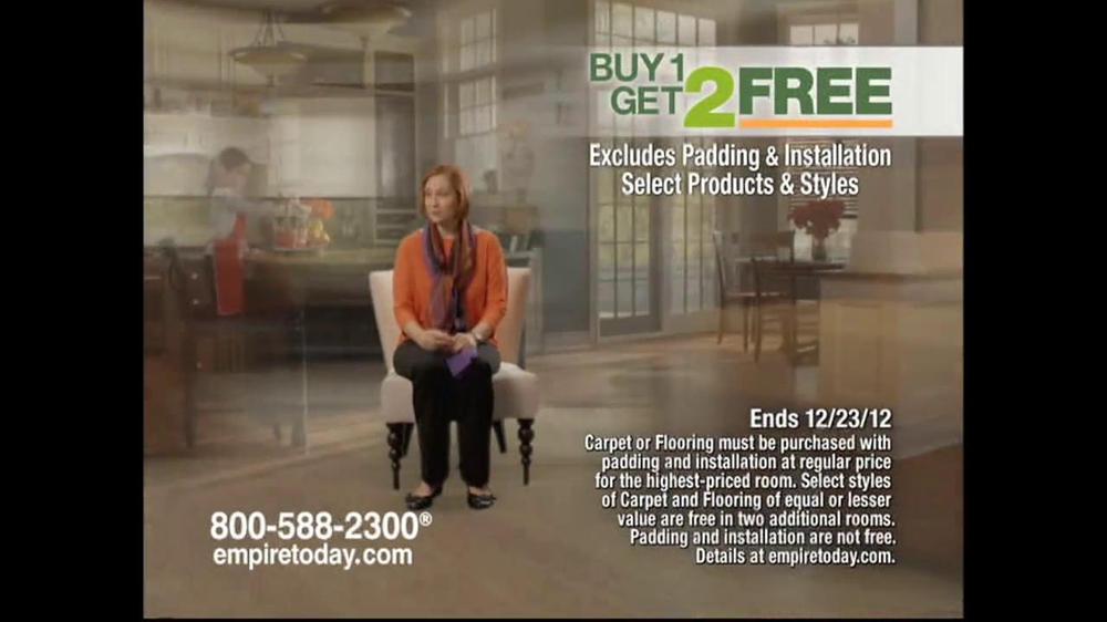 Empire Today Buy 1, Get 2 Free Sale TV Spot  - Screenshot 2