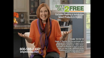 Empire Today Buy 1, Get 2 Free Sale TV Spot