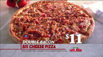 Papa John's TV Spot, 'Double Bacon'