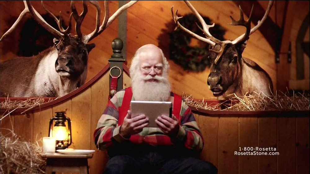 Rosetta Stone TV Spot, 'German-Speaking Santa' - Screenshot 8