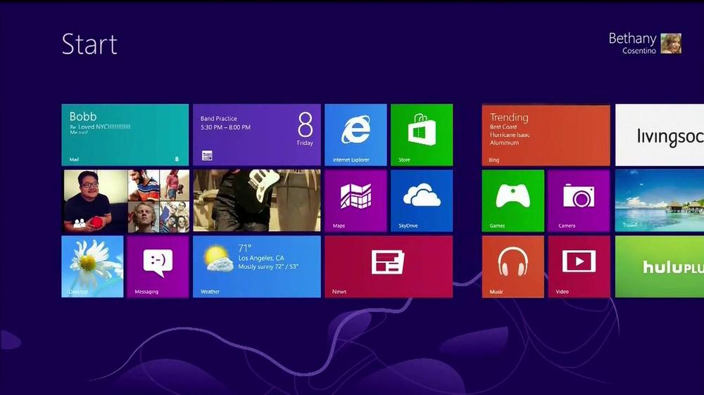 Windows 8 promo song i wanna be