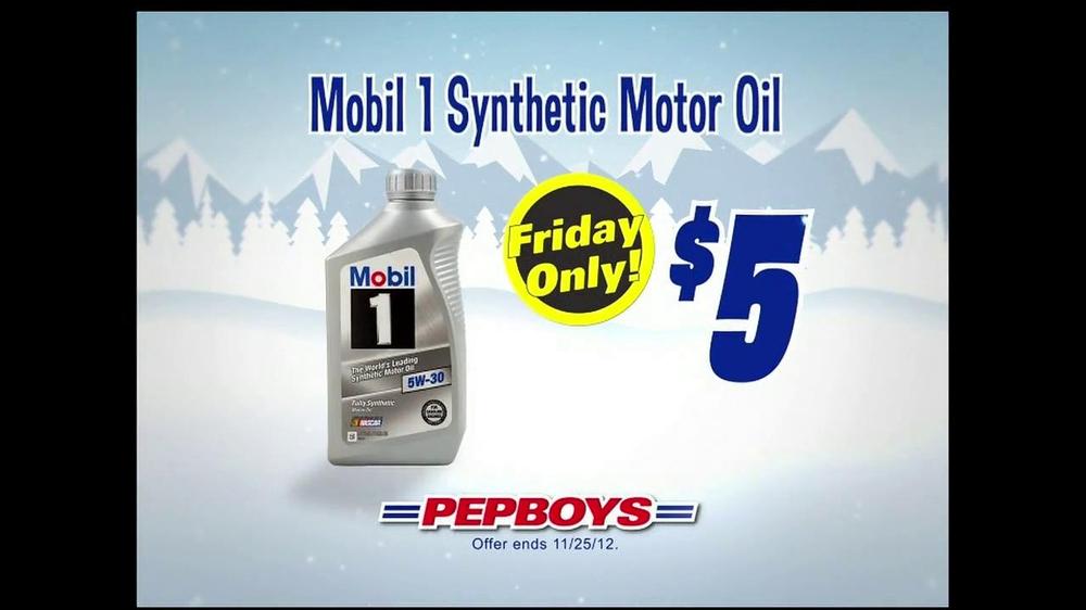Pepboys black friday deals tv commercial 39 motor oil for Mobil motor oil rebate
