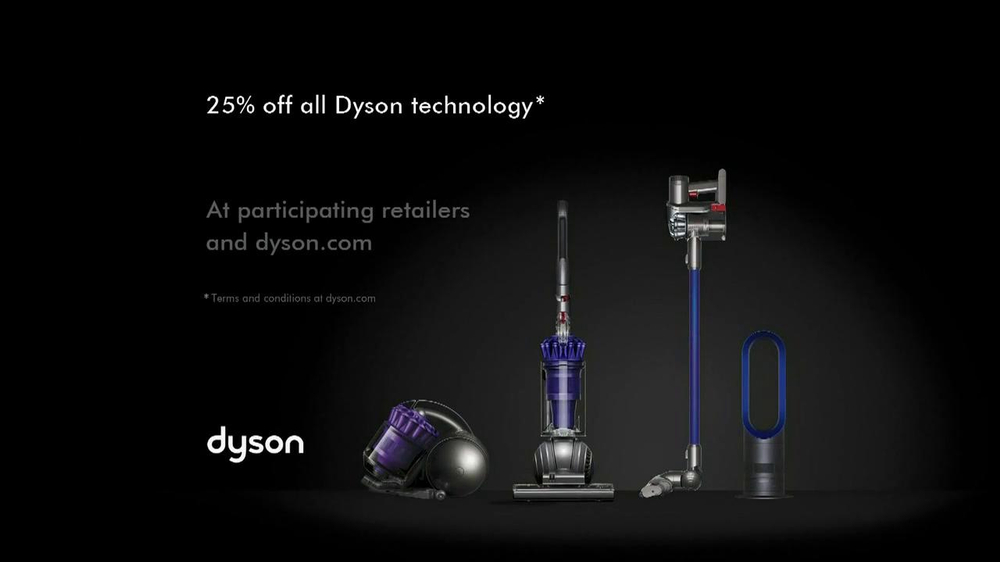 dyson black friday tv spot 39 from vacuums to fans. Black Bedroom Furniture Sets. Home Design Ideas