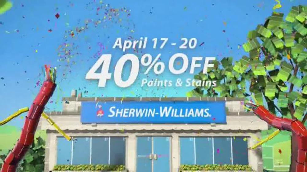 Sherwin williams four day super sale tv spot april screenshot 4
