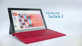 Microsoft Surface 3 TV Spot, '3, 2, 1...Go!'