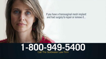 Goldwater Law Firm TV Spot, 'Transvaginal Mesh Implant'