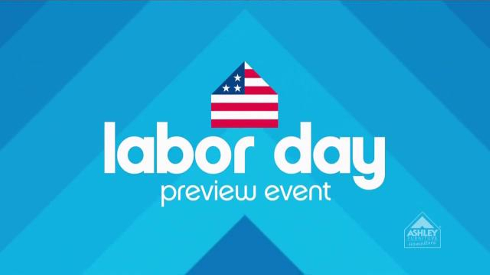 Ashley Furniture Homestore Labor Day Preview Event Tv Commercial 39 Save Early 39