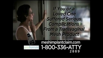 Goza Honnold Trial Lawyers TV Spot, 'Transvaginal Mesh Product Settlement'