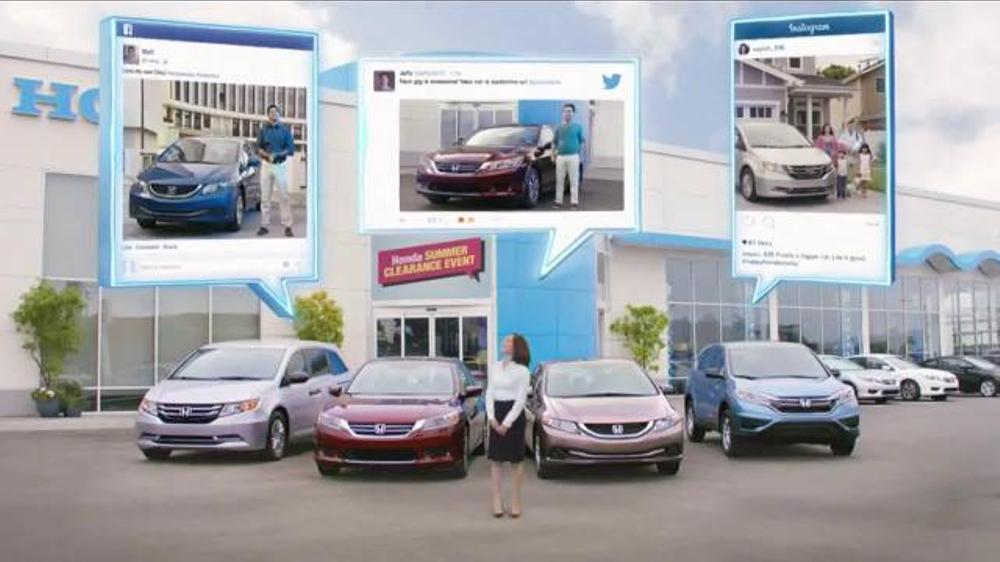 Honda Summer Clearance Event TV Spot, 'Nice Wheels!'