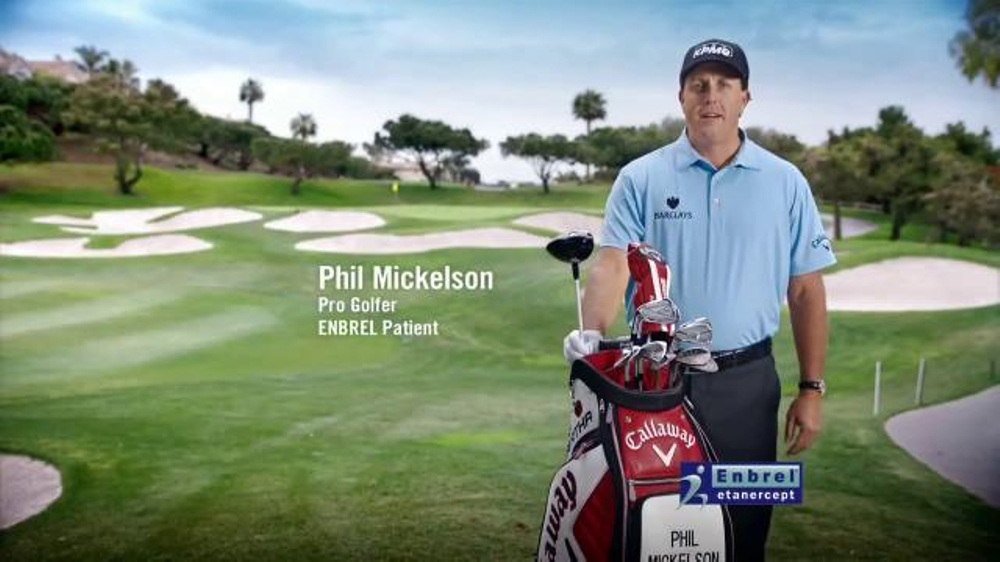Enbrel TV Spot 'Everyday Activities' Featuring Phil Mickelson