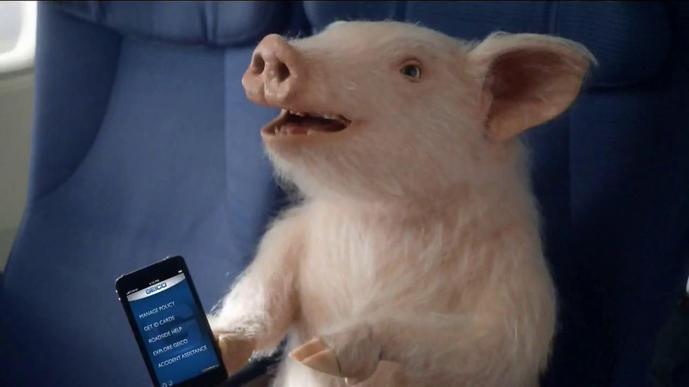 GEICO Mobile App TV Spot, 'When Pigs Fly' - Screenshot 4