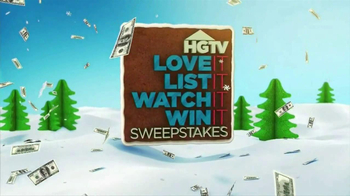 HGTV Love It, List It, Watch It, Win It Sweepstakes TV Spot