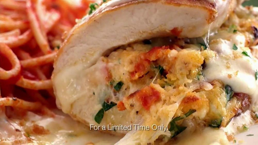 Olive Garden Parmesan Crusted Stuffed Chicken Tv Spot