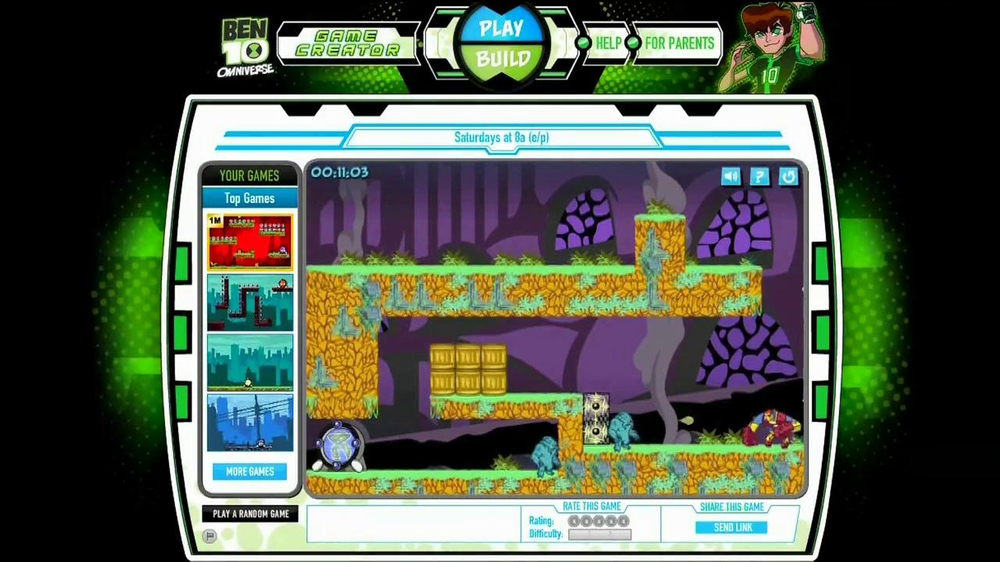 Cartoon Network Web Check TV Spot, 'Ben 10 Game Creator' - Screenshot 3