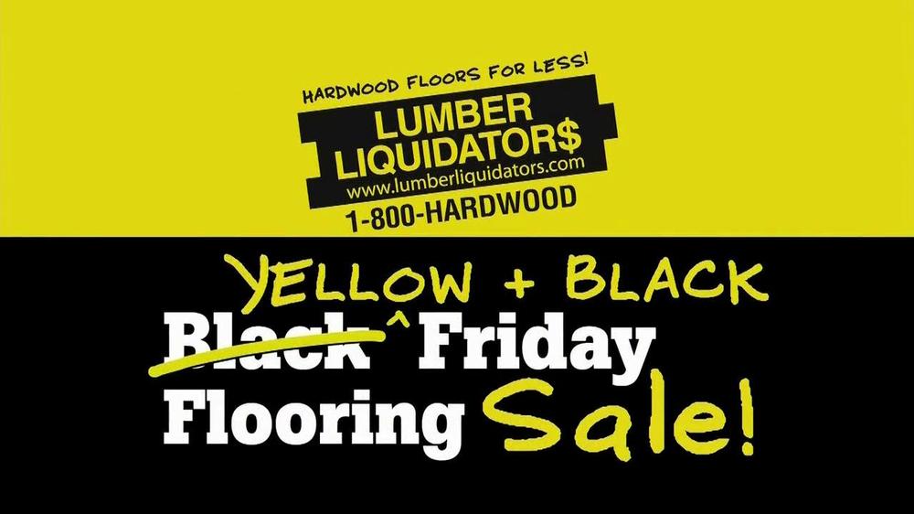 Lumber Liquidators Yellow and Black Friday Sale TV ...