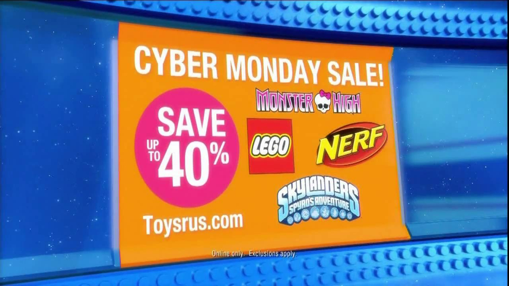 toys r us cyber monday sale tv commercial. Black Bedroom Furniture Sets. Home Design Ideas