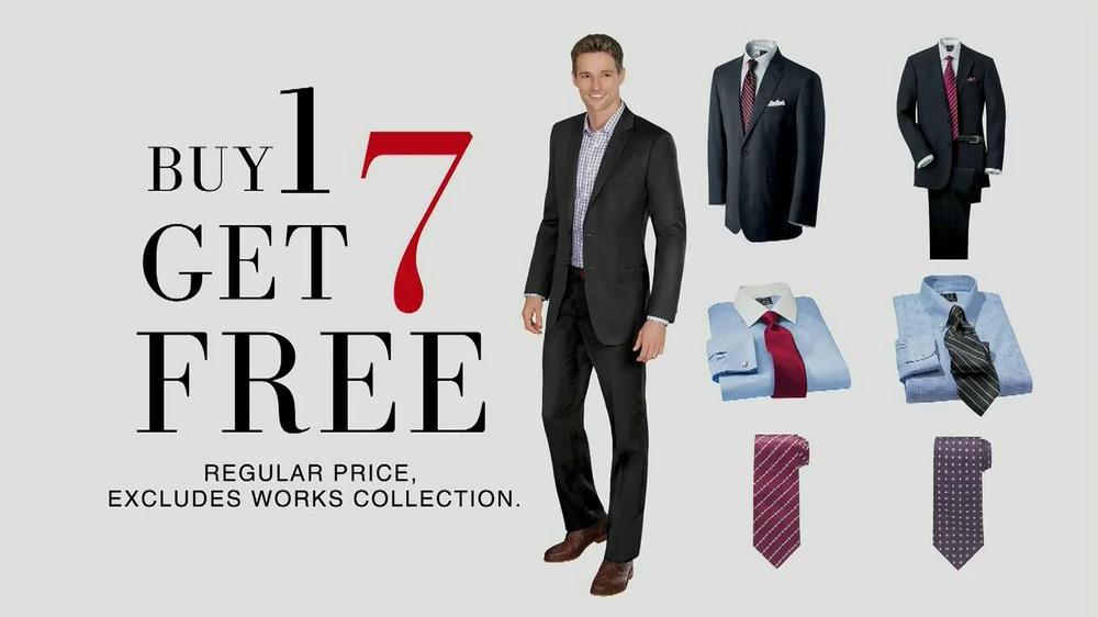 JoS. A. Bank TV Spot, 'Buy One, Get 7 Free: Suit' - Screenshot 9