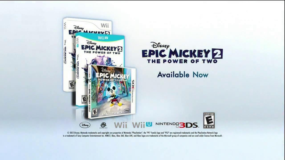 Disney Epic Mickey 2: The Power of Two TV Commercial, 'The Next ...