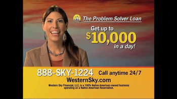 Western Sky Financial Problem Solver Loan TV Spot - Thumbnail 1