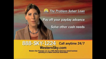 Western Sky Financial Problem Solver Loan TV Spot - Thumbnail 2