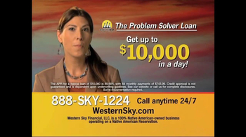 Western Sky Financial Problem Solver Loan TV Spot - Thumbnail 3