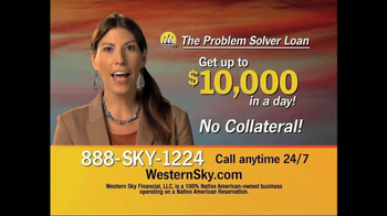 Western Sky Financial Problem Solver Loan TV Spot - Thumbnail 5