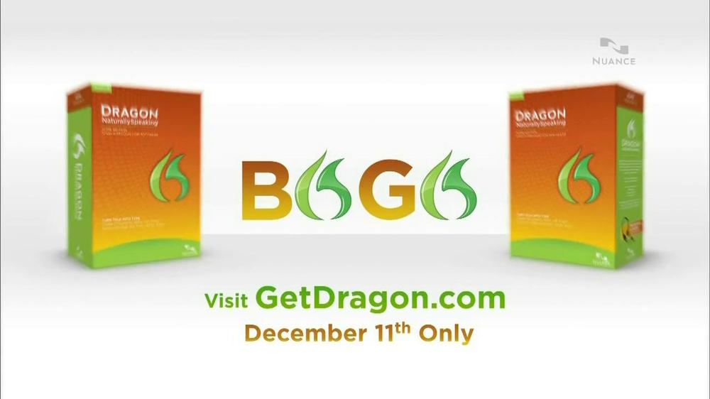 Nuance Dragon TV Spot, 'BOGO' - Screenshot 2