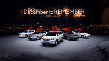 Lexus December To Remember TV Spot, 'Perfect Lexus'  - Thumbnail 6