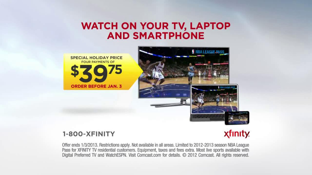 XFINITY NBA League Pass TV Spot, 'Special Holiday Price' - Screenshot 7
