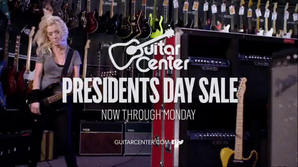 guitar center president 39 s day sale tv commercial 39 rock out 39. Black Bedroom Furniture Sets. Home Design Ideas