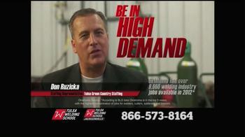 Tulsa Welding School TV Spot, 'Welding In Demand'
