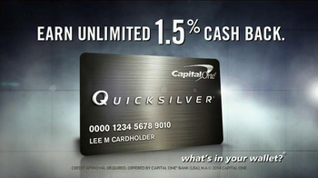 Quicksilver Card TV Spot, '1.5% Cash Back on Cupcakes & Wedding Dresses' thumbnail